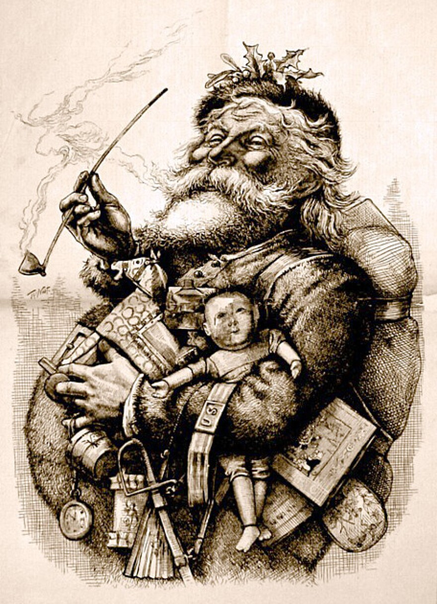 Thomas Nast's merry old Santa Claus from an 1881 issue of Harper's.