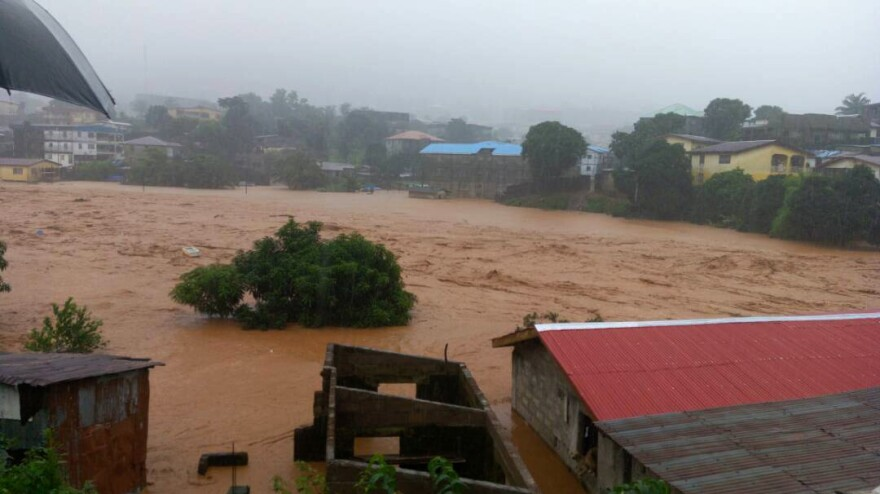 Rescue workers describe a river of mud wiping away entire homes on Freetown's outskirts. As many as 3,000 people may have lost their homes.