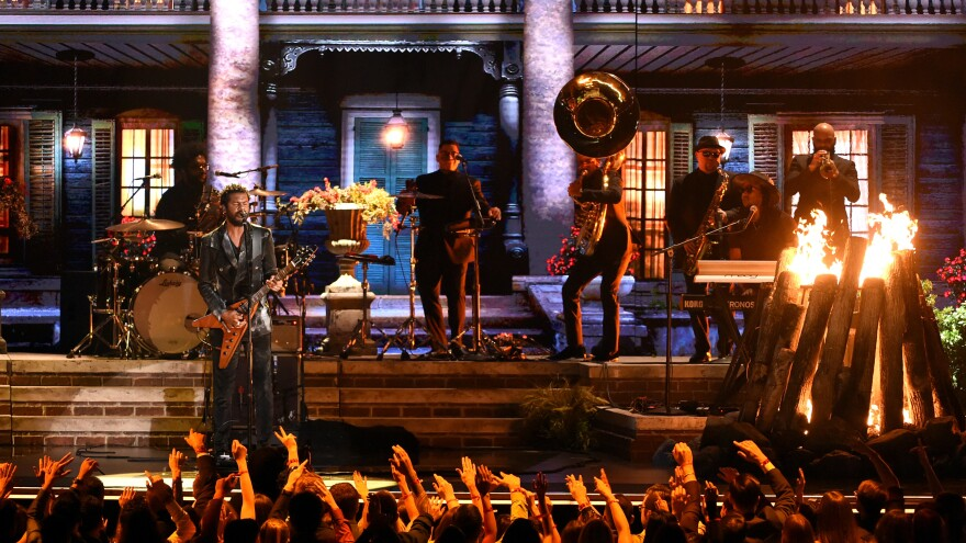 """Gary Clark, Jr. performs his song """"This Land"""" with The Roots."""