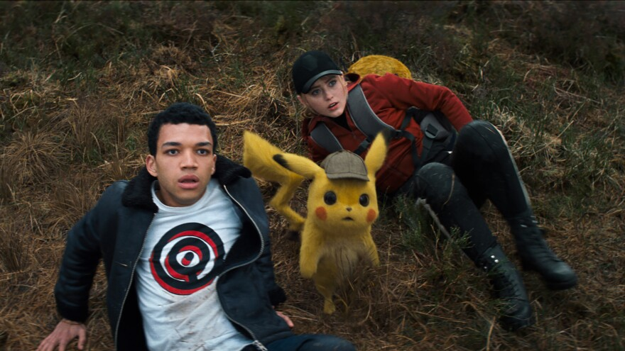 Tim (Justice Smith), a talking Pikachu (Ryan Reynolds), and a hard-nosed intern journalist (Kathryn Newton) team up to find Tim's missing father in <em>Pokémon Detective Pikachu. </em>