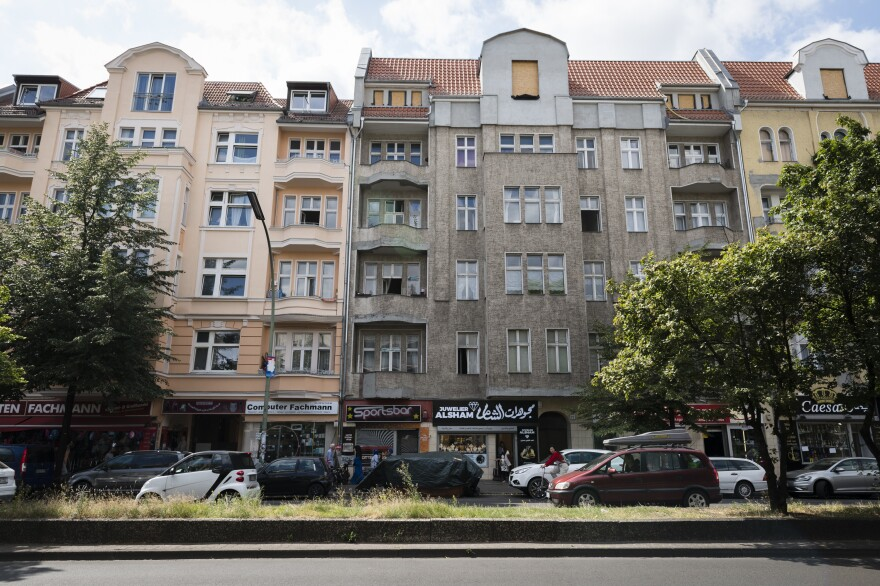 Sonnenallee, a street in Berlin's Neukölln district, has become a home to many Syrian refugees.