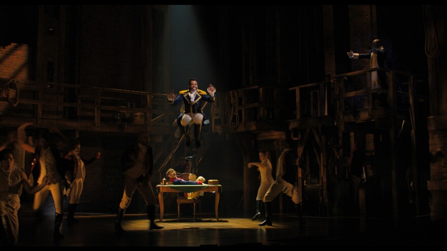 Daveed Diggs gets some serious height playing Lafayette.