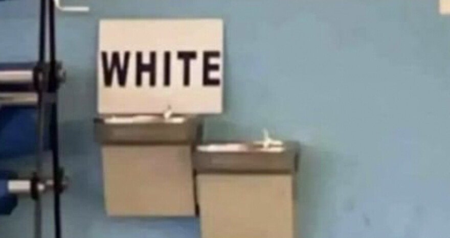 'White' sign unintentionally placed on high school drinking fountain, principal says
