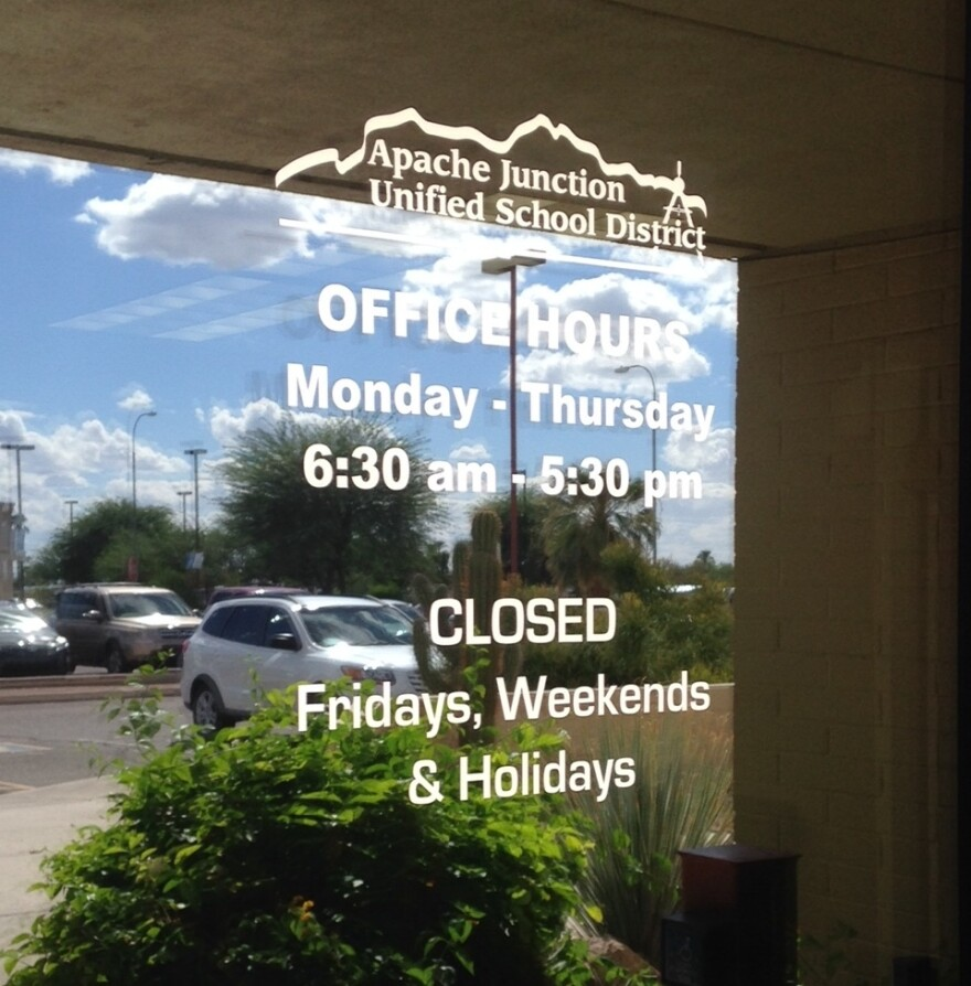 Apache Junction Unified School District, east of Phoenix, operates on a four-day school week.