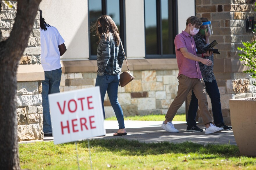 Voters go to the polls on Election Day at Williamson County Jester Annex voting location in Williamson County.