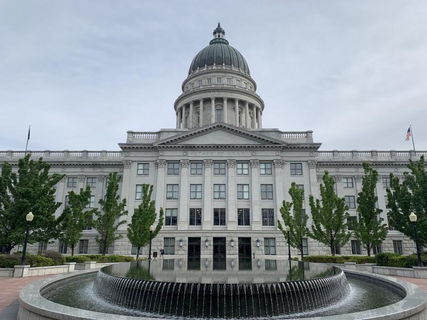 The Utah State Capitol.