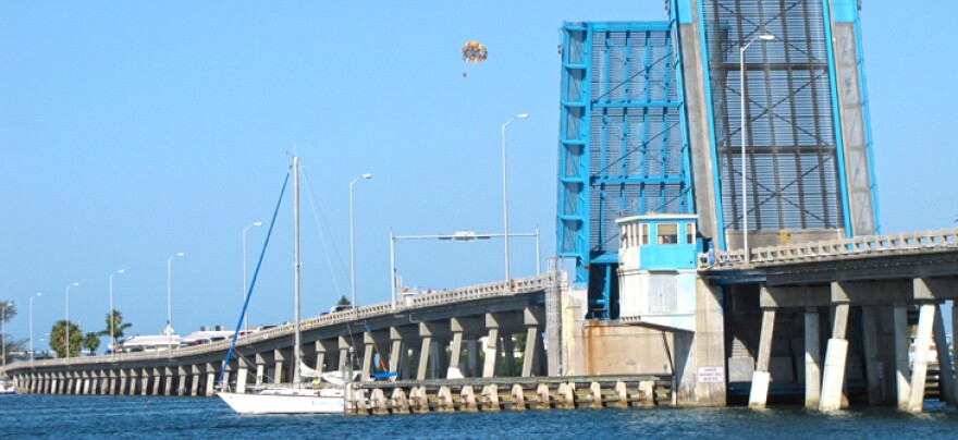 The Cortez Bridge is a drawbridge that connects citizens to Anna Marie Island