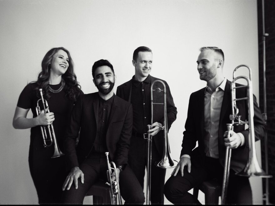 The members of New York-based brass quartet The Westerlies are rehearsing together thousands of miles apart, thanks to Audio Movers.