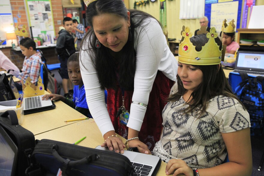 "On ""King and Queen Day,"" the whole class wears gold paper crowns."