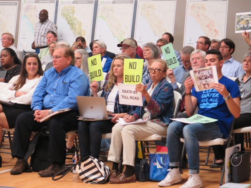 Opponents of the proposed toll roads have been outspoken at public meetings like this one in Madison, Fla.