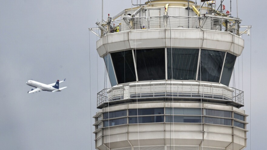 The control tower at Washington's Ronald Reagan National Airport, where the first case of a sleeping controller was reported.