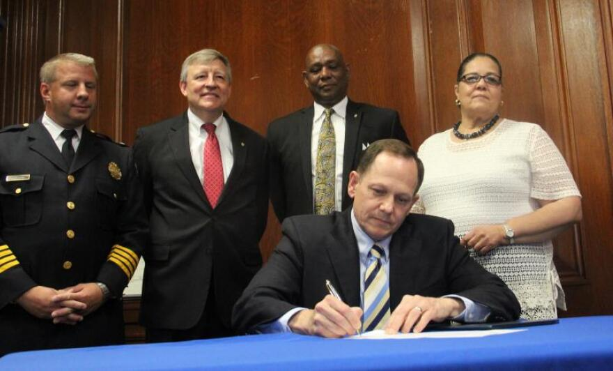 On Aug. 31, 2013, then-Mayor Francis Slay signed an executive order returning control of the St. Louis police department back to the city.