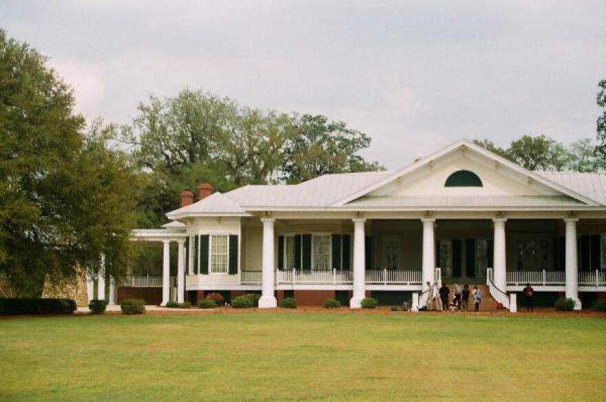 This is the main structure at Cypress Pond, a former plantation in Georgia which is now owned by two black civil rights activists and is a working farm.