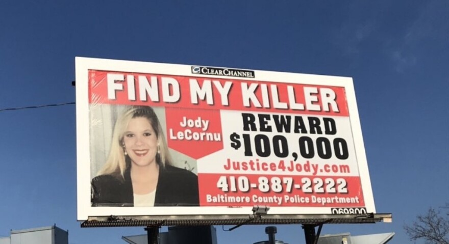 Jennifer Carrieri paid for three billboards offering a $100,000 reward for information about the 1996 murder of her sister, Jody LeCornu.