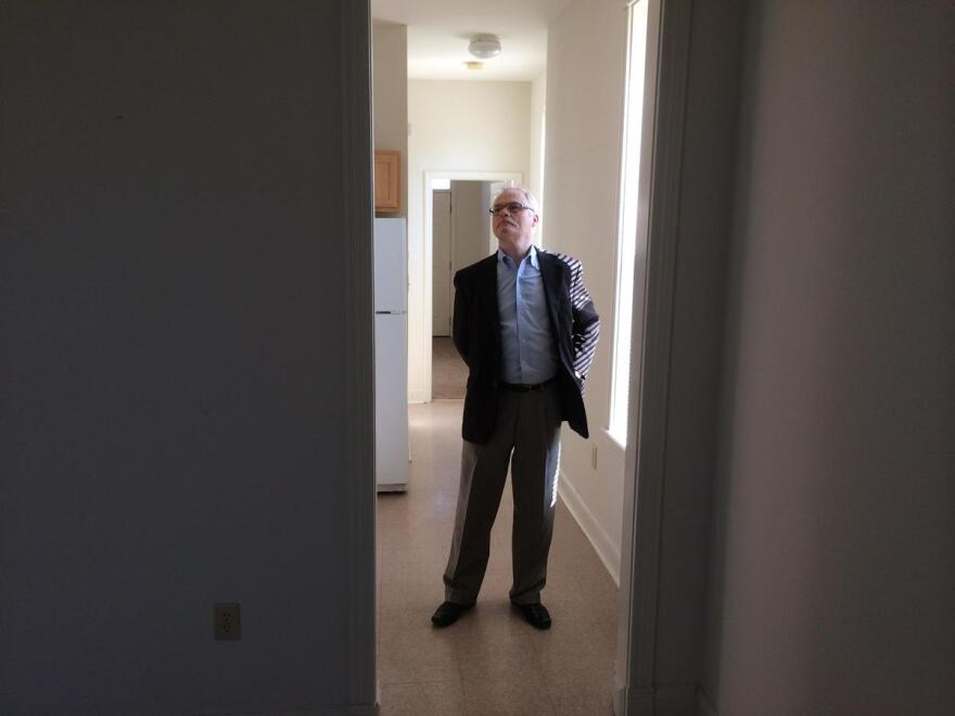 RISE Community Development's Stephen Acree stands in one of his organization's apartments in Forest Park Southeast. His group used low-income housing and historic tax credits to redevelop a slew of buildings in the central corridor neighborhood.