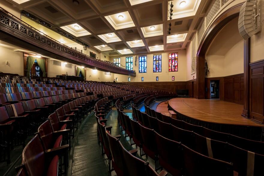Sheldon Concert Hall interior