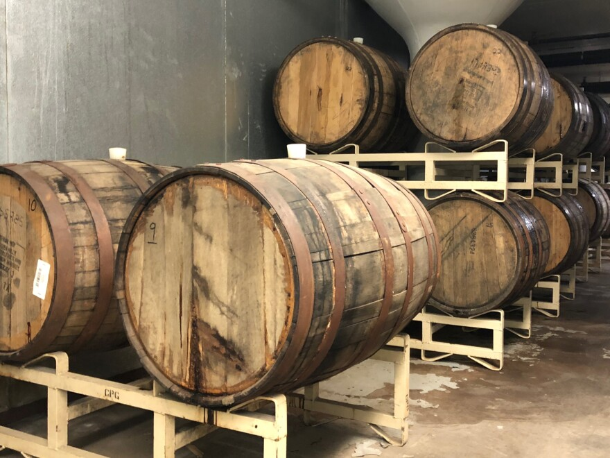 Pearl Street Brewery in La Crosse, Wis., is celebrating its 20th anniversary in February, and brewmaster Joe Katchever's team brewed up a new beer called Deux Decadence. The stout has been aging in bourbon barrels from Kentucky for a year but may not be released in bottles because of the government shutdown.