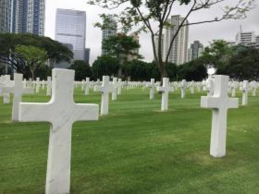 The Manila American Cemetery holds the largest number of World War II veteran graves outside the US -- more than 17,000. It's also home to a memorial to those lost or missing in action in the war which includes over 3,700 Filipinos.