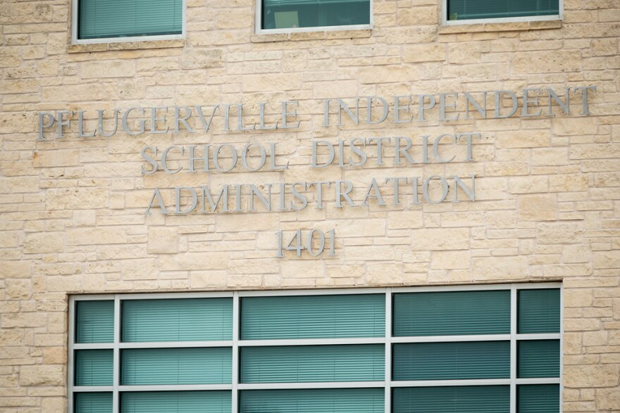 Pflugerville Independent School District's administrative building