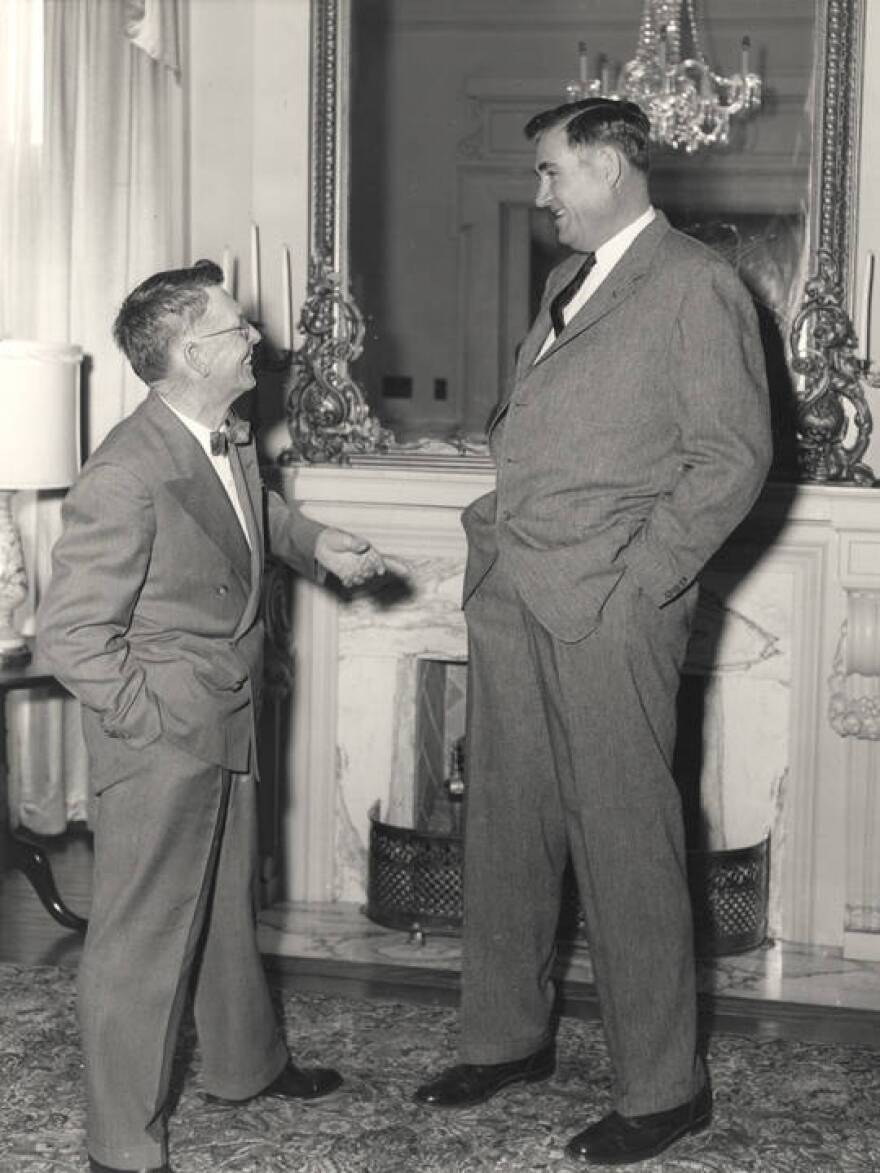 "Folsom stood six feet eight inches high, hence the nickname ""Big Jim."""