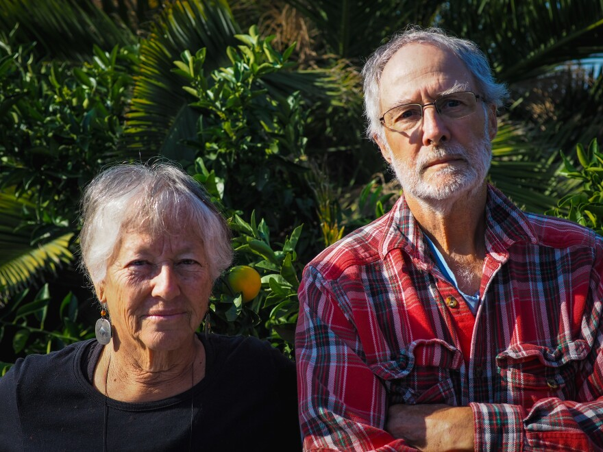 Philip and Sherry Van Gelder are two of the tens of thousands of people under mandatory evacuation in Northern California. They are sheltering with their daughter in Oakland while firefighters fight wildfire near their home two hours north.