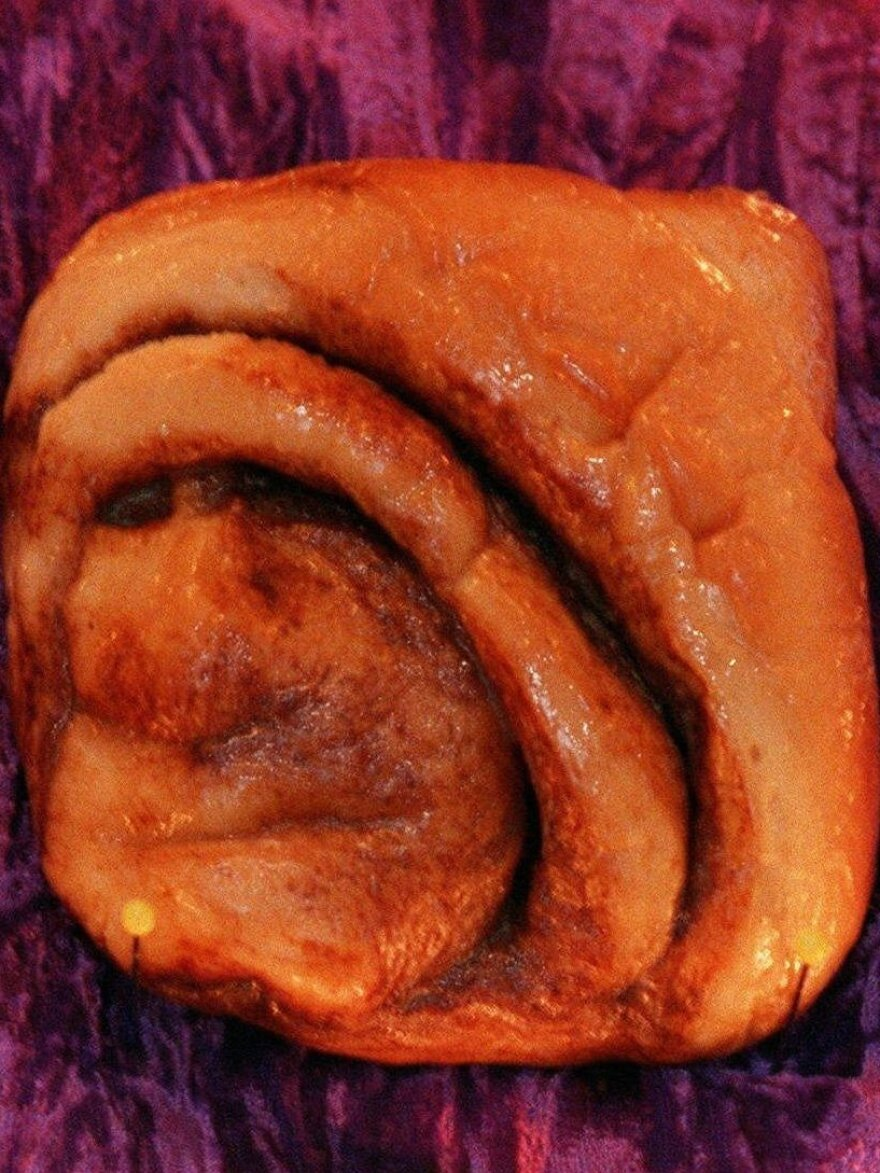 A cinnamon bun, famous for bearing what some perceive as the likeness of Mother Teresa, is seen in an undated file photo.
