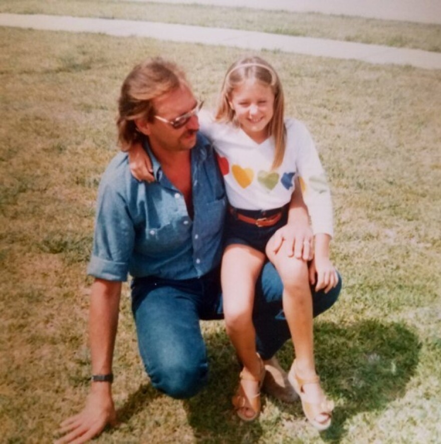 """Willem van Spronsen with his daughter, Ariel. """"I was a total daddy's girl, madly in love with my dad, and we just had a really close bond,"""" she said."""