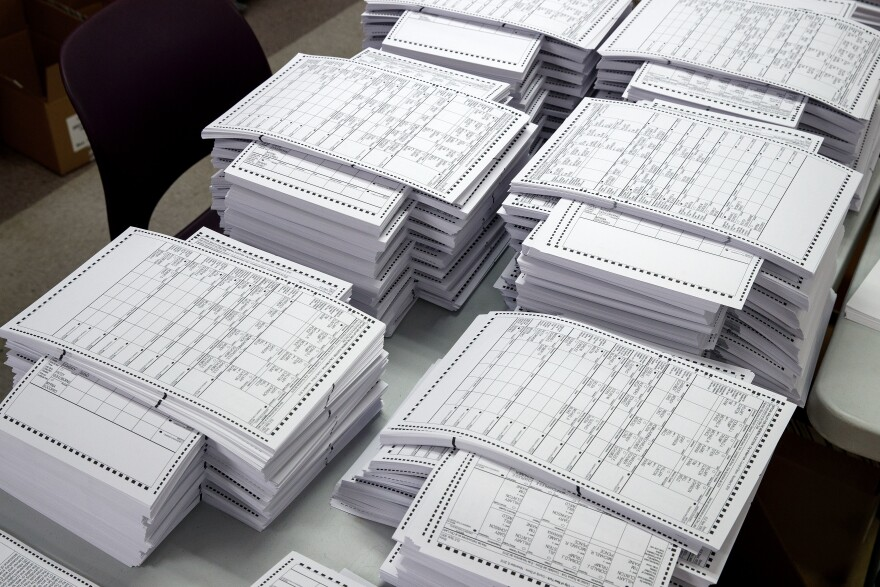 Ballots in New York City ahead of the 2016 general elections. While U.S. election officials have made progress increasing security, gaps still remain.