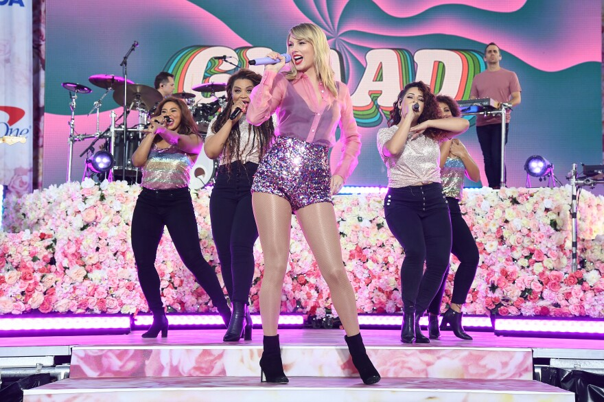 """Taylor Swift performs on ABC's """"Good Morning America"""" at SummerStage at Central Park on Thursday."""