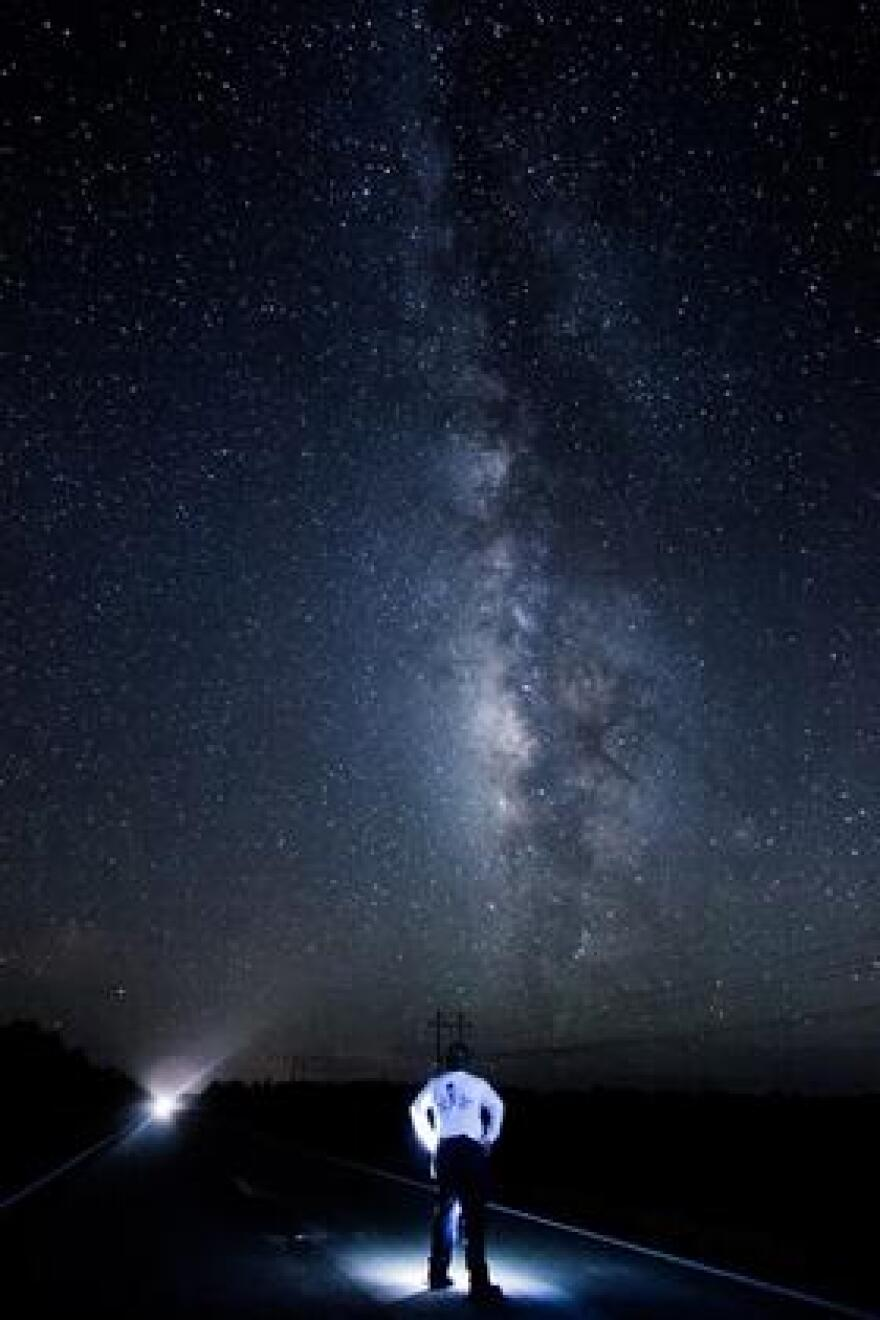 That's the Milky Way, as seen from Big Cypress National Preserve.