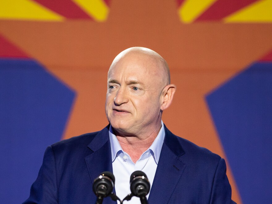 Democrat Mark Kelly was sworn into the U.S. Senate on Wednesday afternoon.