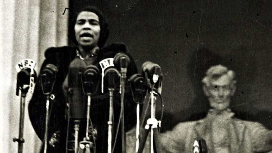 In 1939, opera singer Marian Anderson sang on the steps of the Lincoln Memorial, a moment historians say was a landmark of the Civil Rights Movement. NATIONAL MUSEUM OF AMERICAN HISTORY