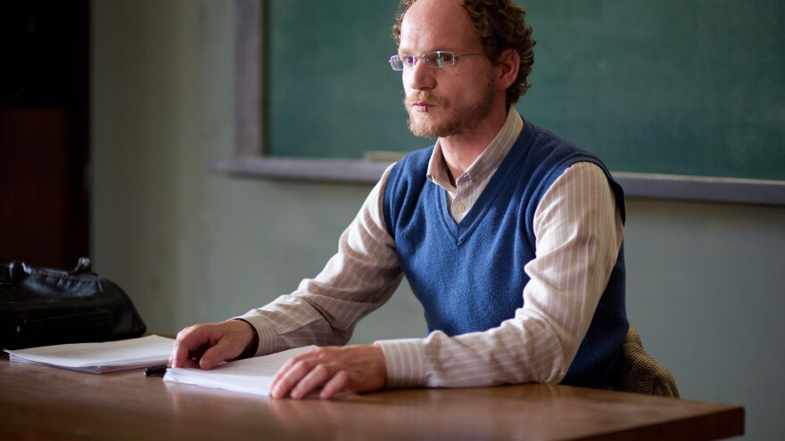 Religious-studies teacher Dror (Rotem Keinan) is the prime suspect in a series of gruesome murders in <em>Big Bad Wolves</em>, a bracing new thriller from the Israeli writer-director team of Aharon Keshales and Navot Papushado.