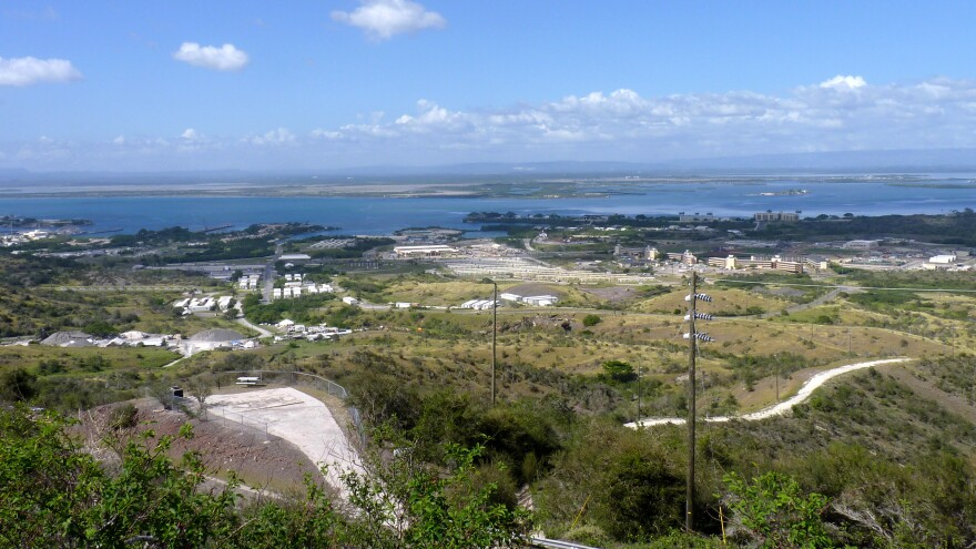 A view of the the U.S. Naval Station base in Guantanamo Bay, Cuba. President Obama promised during his first days in office to close the U.S. prison there but it still houses detainees.