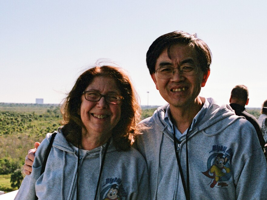 Dr. Emily Germain-Lee and Dr. Se-Jin Lee waited eagerly at Kennedy Space Center for a SpaceX rocket to launch their experimental mice into space in December.