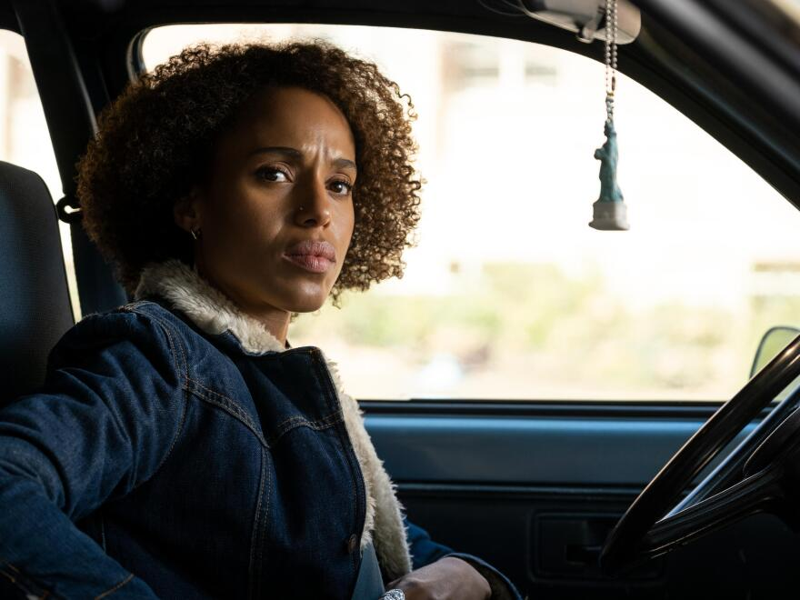 "Kerry Washington plays Mia Warren, an enigmatic artist and single mother, in the Hulu series <em>Little Fires Everywhere,</em> adapted from <a href=""https://www.npr.org/2017/09/09/549552722/a-mother-and-daughter-upset-suburban-status-quo-in-little-fires-everywhere"">Celeste Ng's 2017 novel.</a>"