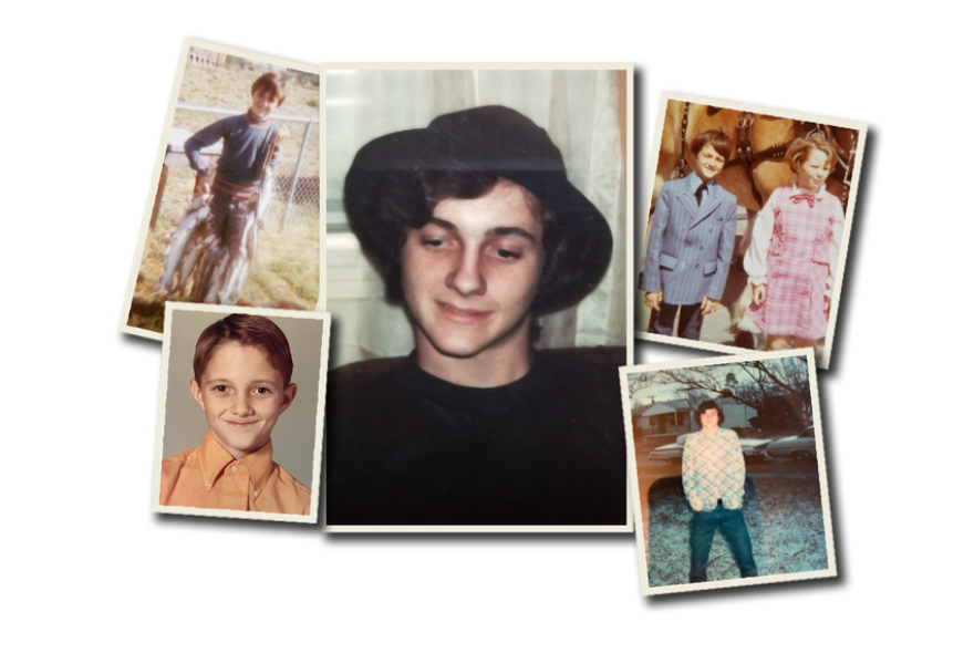 Gary Ryan is shown in a collection of old family photographs.
