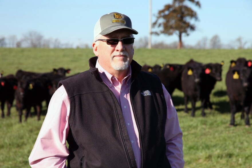 Cattle rancher Mike John runs a cow-calf operation in Huntsville, Mo., and hopes international trade will open up new markets for his beef.
