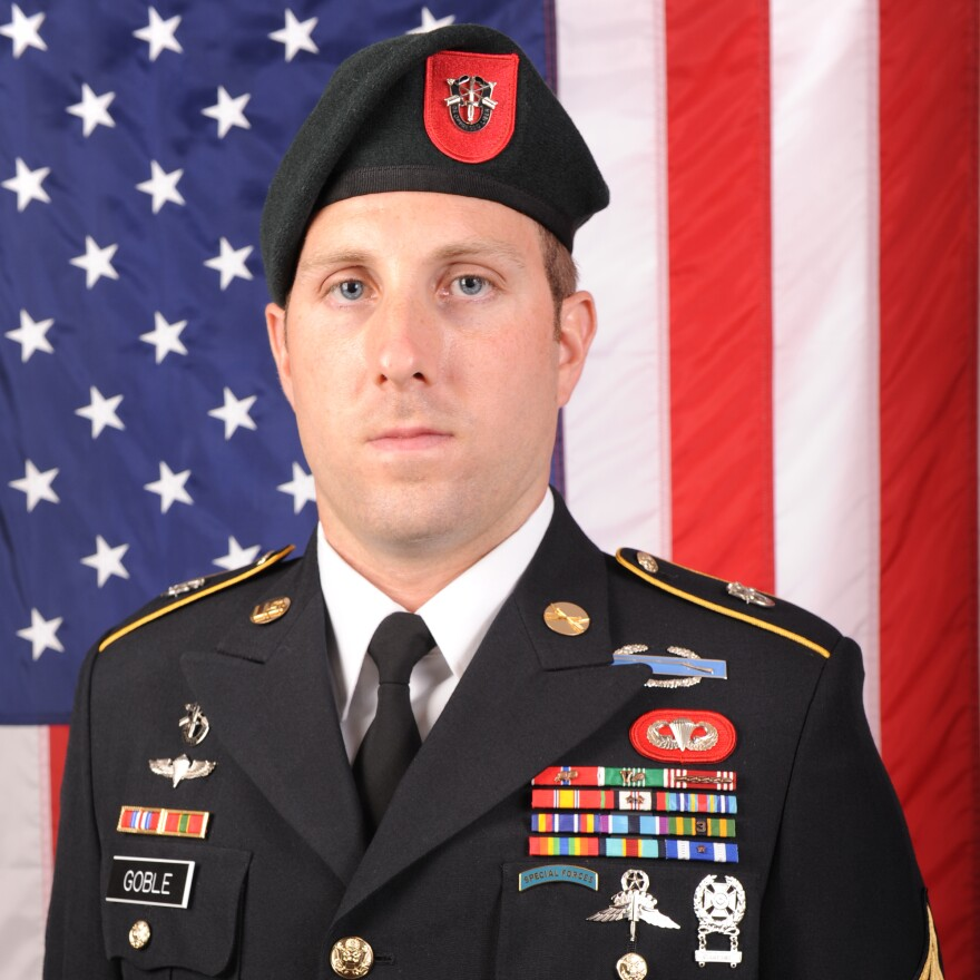 U.S. Army Sgt. 1st Class Michael James Goble, who was killed during combat operations in Kunduz province, Afghanistan, on Sunday.