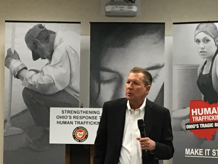 photo of Governor John Kasich at human trafficking event