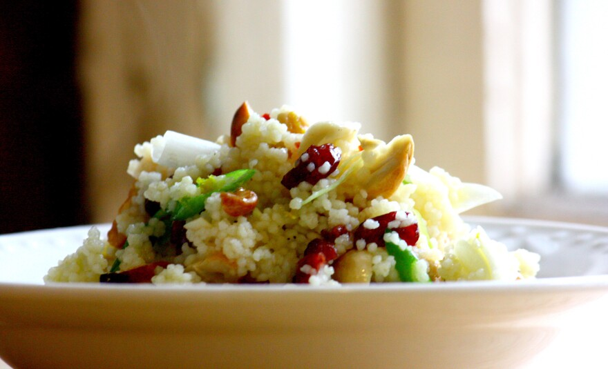 Couscous With Dried Cranberries, Cashews And Orange