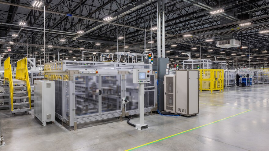 The Hanwha Q Cells assembly plant in Dalton, Ga., assembles 10,000 solar panels a day. The factory was announced at the end of May 2018 and production began in January 2019.
