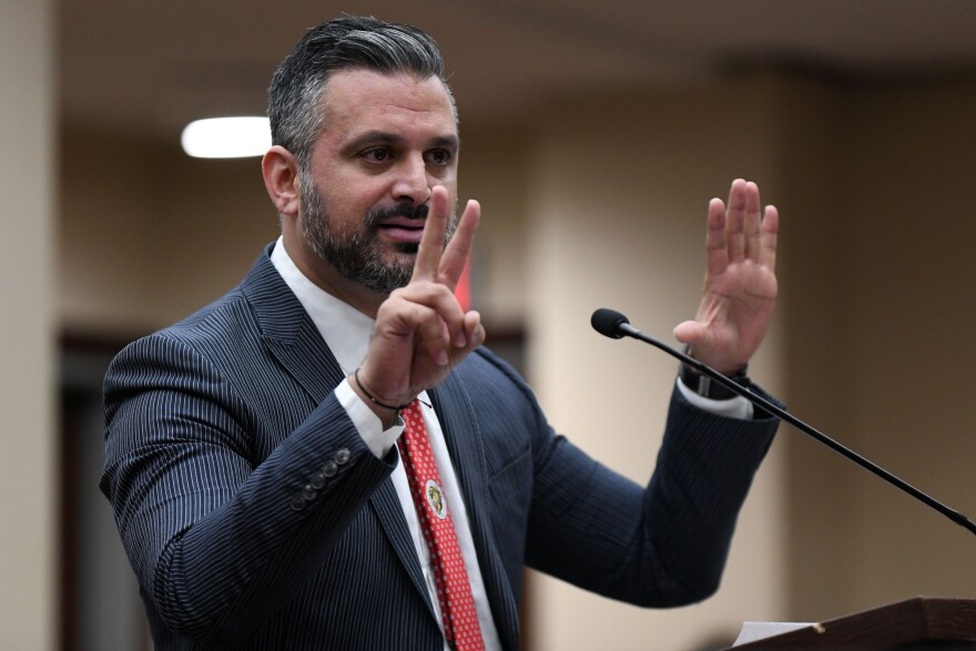Sigfredo Garcia's attorney Saam Zangeneh giving opening statement on Thursday, Sept. 26, 2019, in the Dan Markel Murder Trial.