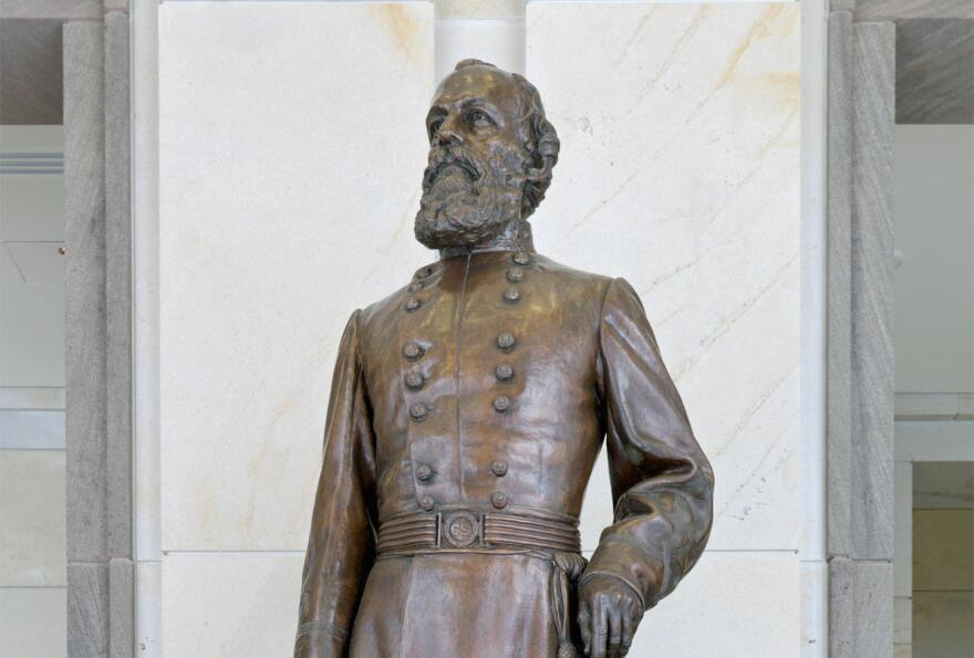 Edmund Kirby Smith statue in the National Statutory Hall