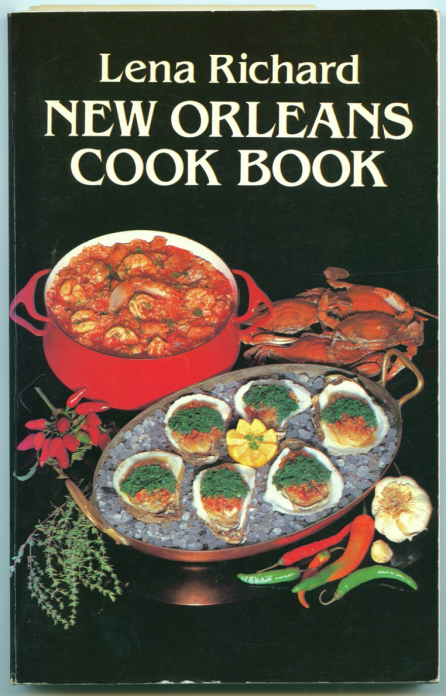 "Toni Tipton-Martin notes that the history of black food is not limited to ""cabin cooking."" Lena Richard, for instance, was a restaurant head chef, catering company owner and cooking school operator. She self-published her cookbook in 1939; it was republished twice in later decades, including the 1985 printing shown here."