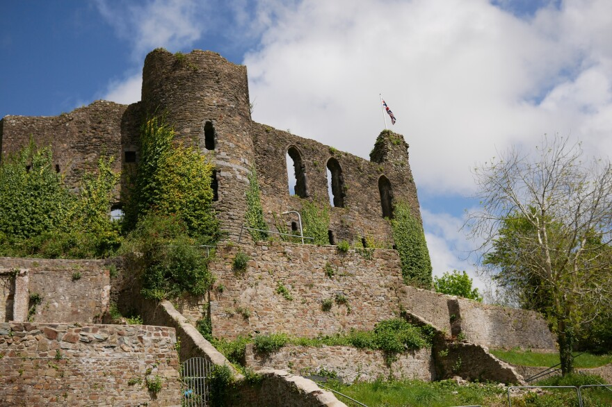 The Haverfordwest Castle<strong> </strong>is a town landmark that Britten photographed as a part of a packet showing a Syrian refugee family in Jordan where they would be living in Wales.