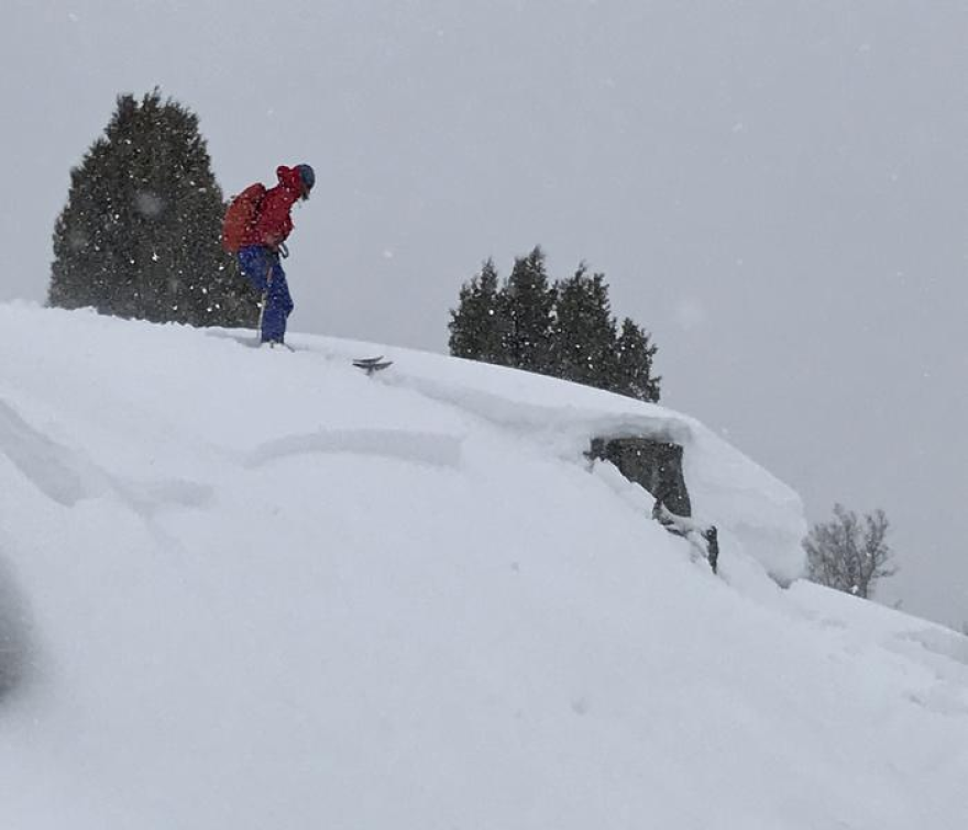 An avalanche intentionally triggered by skiers Thursday and reported to the Utah Avalanche Center.
