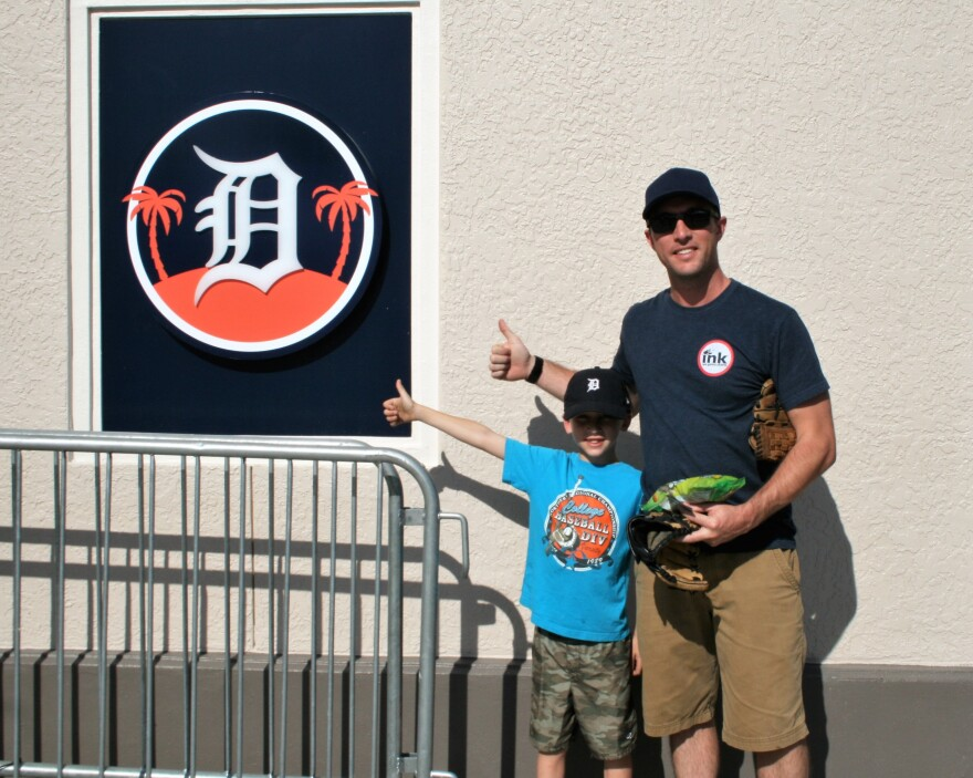 Jackson and Justin James of Lakeland are fans of the Detroit Tigers and its minor league team, the Lakeland Flying Tigers.