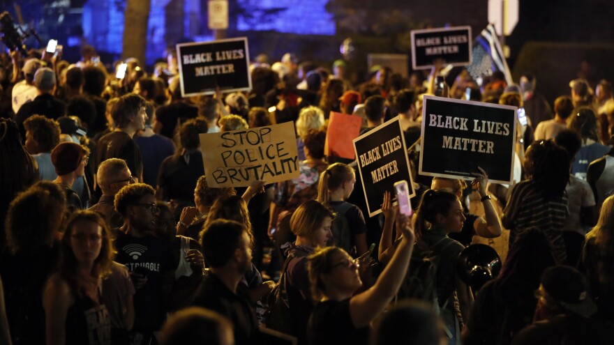 Protesters gathered Friday in St. Louis, after a judge found a white former St. Louis police officer not guilty of first-degree murder in the death of a black man, Anthony Lamar Smith.