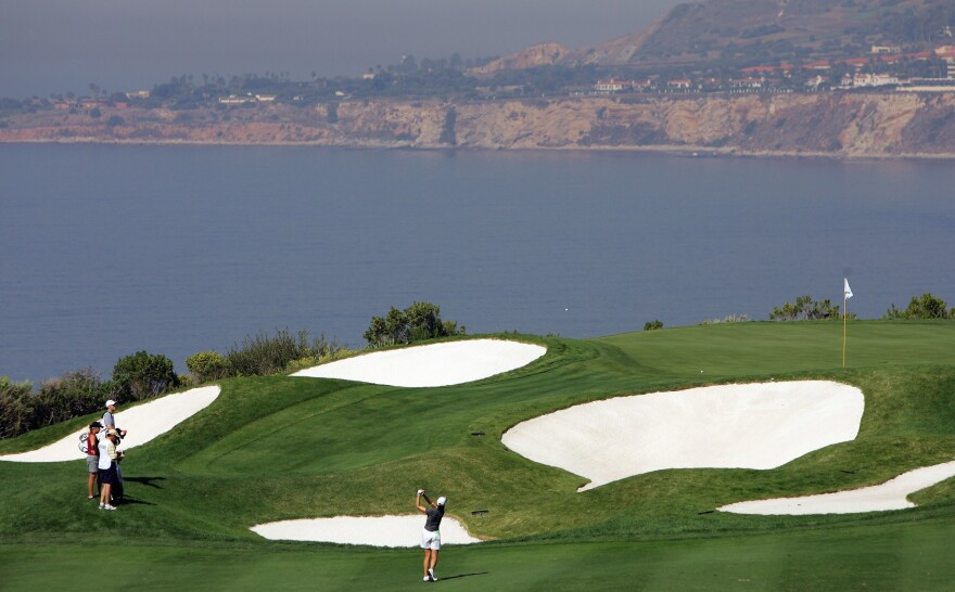 The Trump National Golf Club in Rancho Palos Verdes, seen in 2005, has removed a list of charitable donations it once posted on its website. An NPR examination of that list reveals inconsistencies and errors.